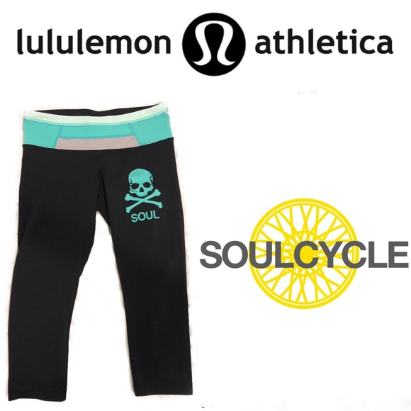 Lululemon Athletica Pants Flash Sale Rare Lululemon Soulcycle Crop Leggings Poshmark